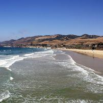 Coastline, People, Mountains, Pismo Beach, Santa Barbara and the Central Coast, California, USA