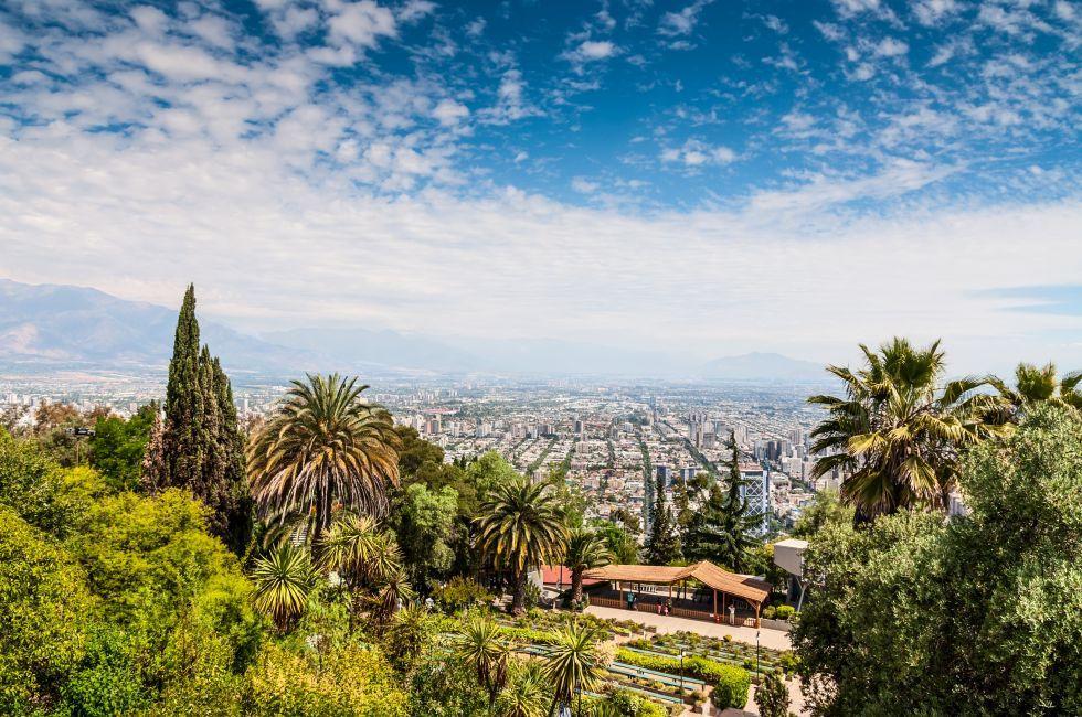 Overlook, Cityscape, Bellavista, Santiago, Chile