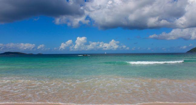 Beach, Smugglers Cove Beach, Tortola, British Virgin Islands, Caribbean