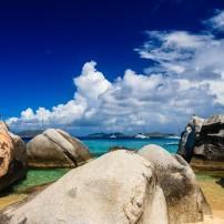 Sailboats, Beach, The Baths, Virgin Gorda, BVI, Caribbean