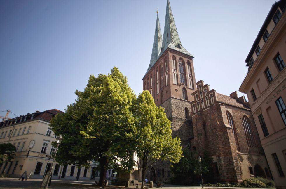 Nikolaiviertel, St. Nicholas' Church, Mitte, Berlin, Germany, Europe.