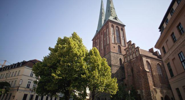 Nikolaiviertel, St. Nicholas' Church, Mitte, Berlin, Germany, Europe.