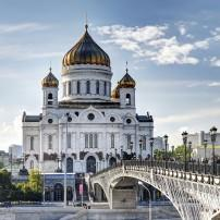Bridge, Cathedral of  Christ the Savior, Moscow, Russia