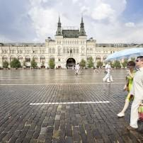 Couple, Red Square, Moscow, Russia