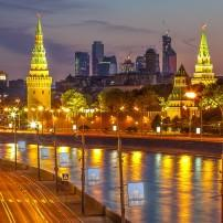 Moscow River, The Kremlin, Moscow International Business Center, Moscow, Russia