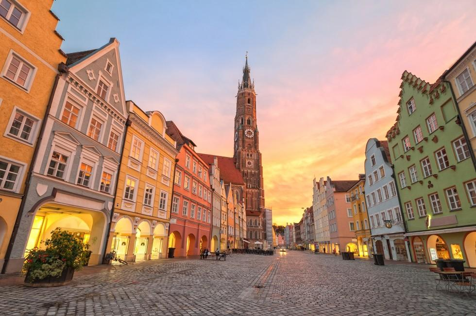 Sunset, Old Town, Munich, Germany