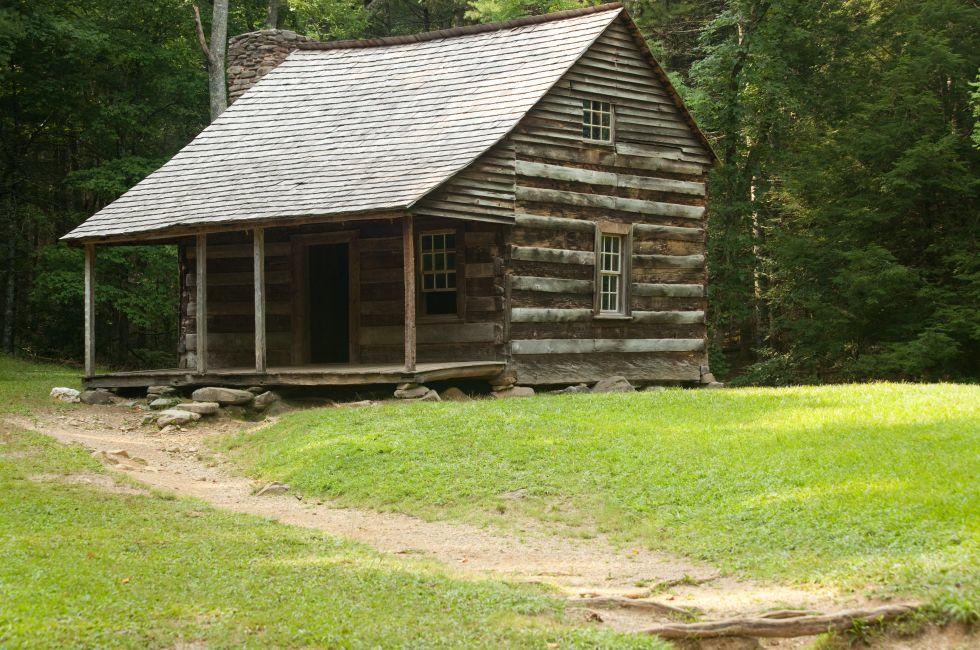 Log Cabin, Cade's Cove Loop Road, Great Smoky Mountains, Tennessee