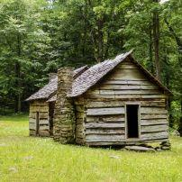 Log Cabin, Roaring Fork Motor Trail, Great Smoky Mountains National Park, Gatlinburg, Tennessee
