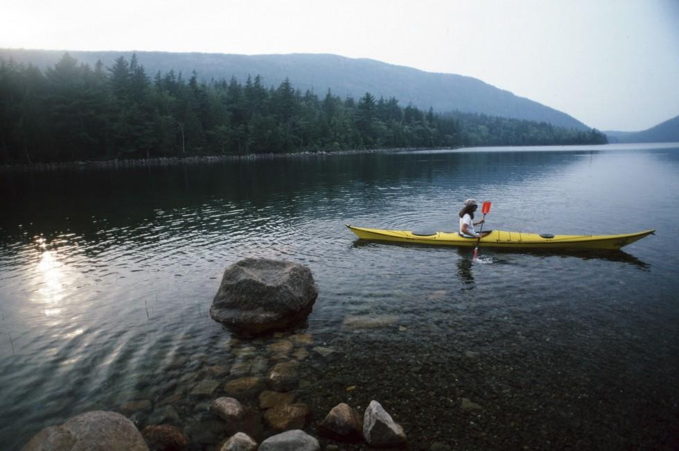 Kayaking, Acadia National Park, Maine, USA