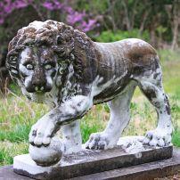Stone Lion Sculpture, Cheekwood Manstion, Cheekwood Botanical Garden and Museum of Art, Nashville, Tennessee