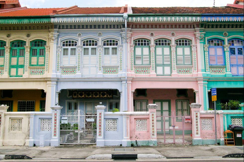 Houses, Architecture, Katong, East Coast Katong and Joo Chiat, Singapore, Asia.