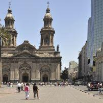 Crowd, Plaza de Armas, Metropolitana  Cathedral, Central Santiago, Santiago, Chile