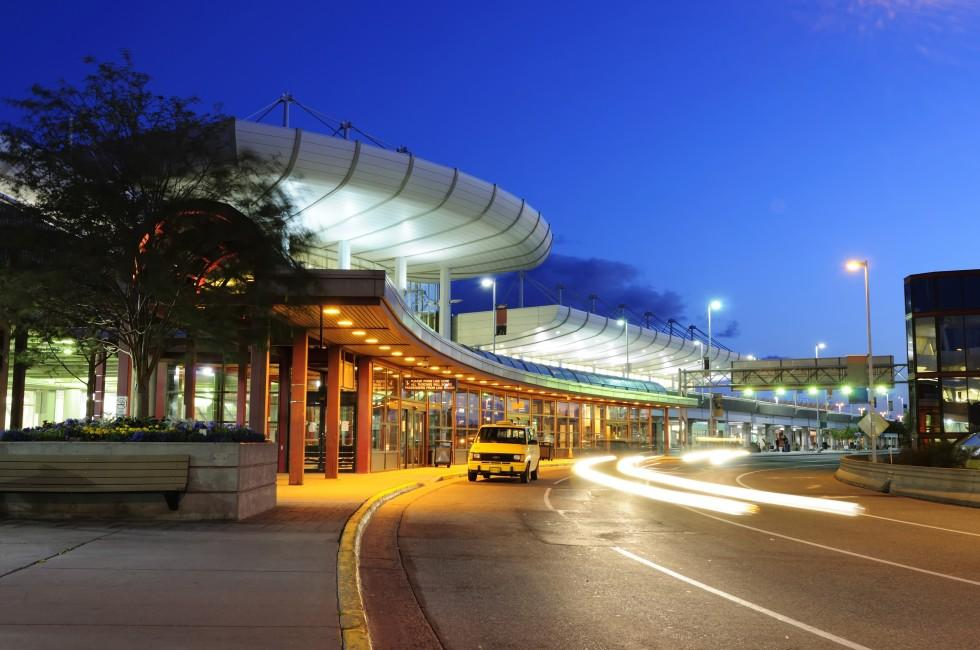 Night, Anchorage International Airport, Anchorage, Alaska, USA