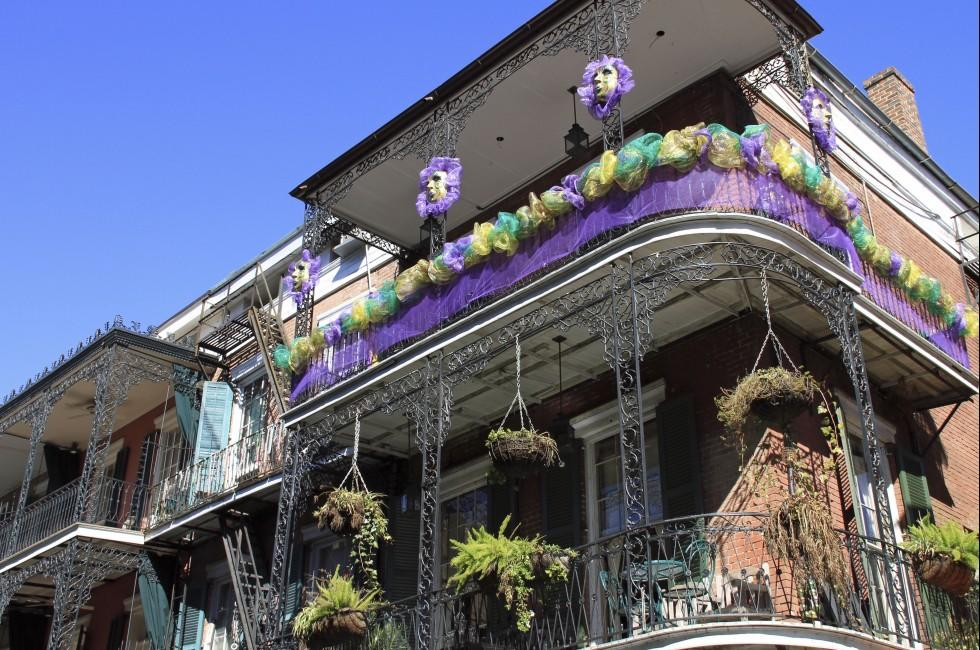 Balcony, French Quarter, New Orleans, Louisiana, USA