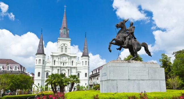 Saint Louis Cathedral, Jackson Square, New Orleans, Louisiana, USA