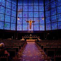 Interior, Kaiser Wilhelm Memorial Church, Berlin, Germany, Europe.