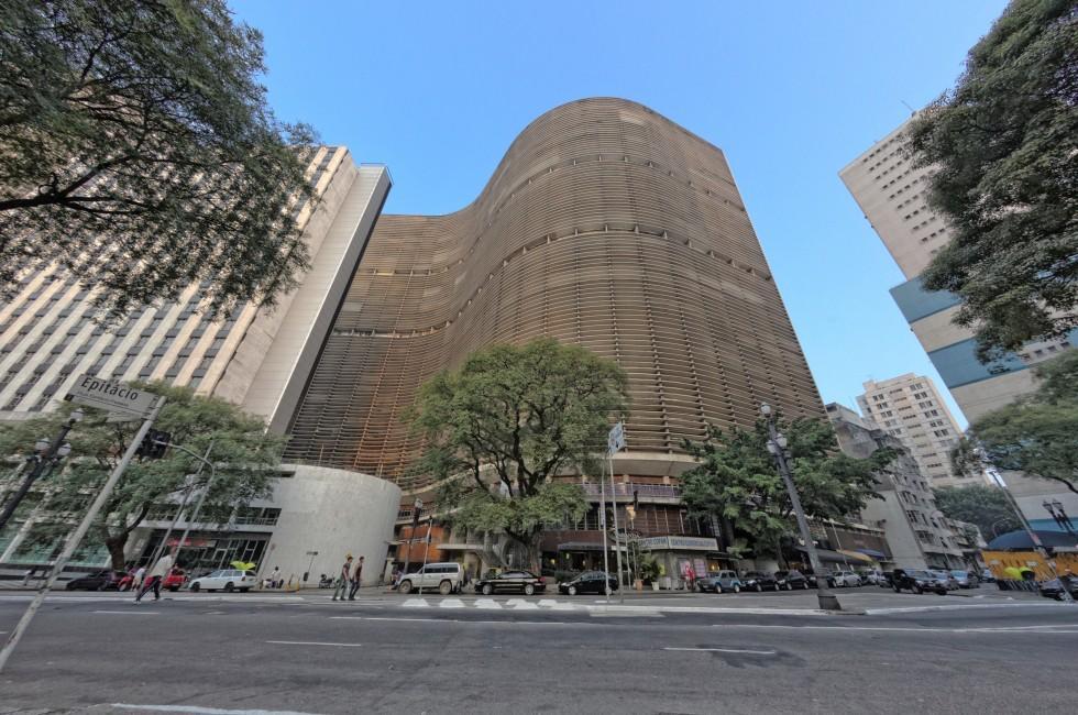 Street, Exterior, Apartments, Copan Building, Centro, Sao Paulo, Brazil