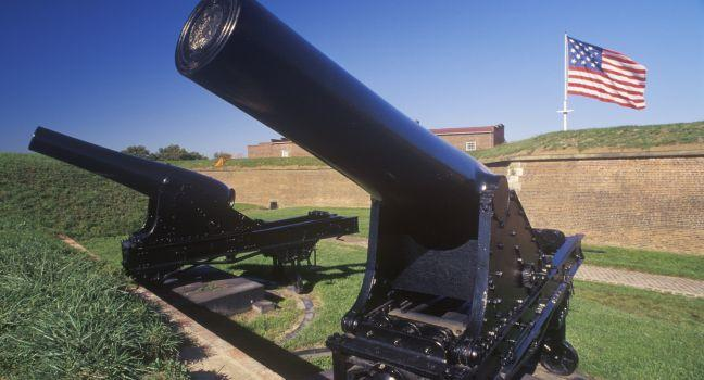 Cannon, Fort McHenry National Monument, Baltimore, Maryland