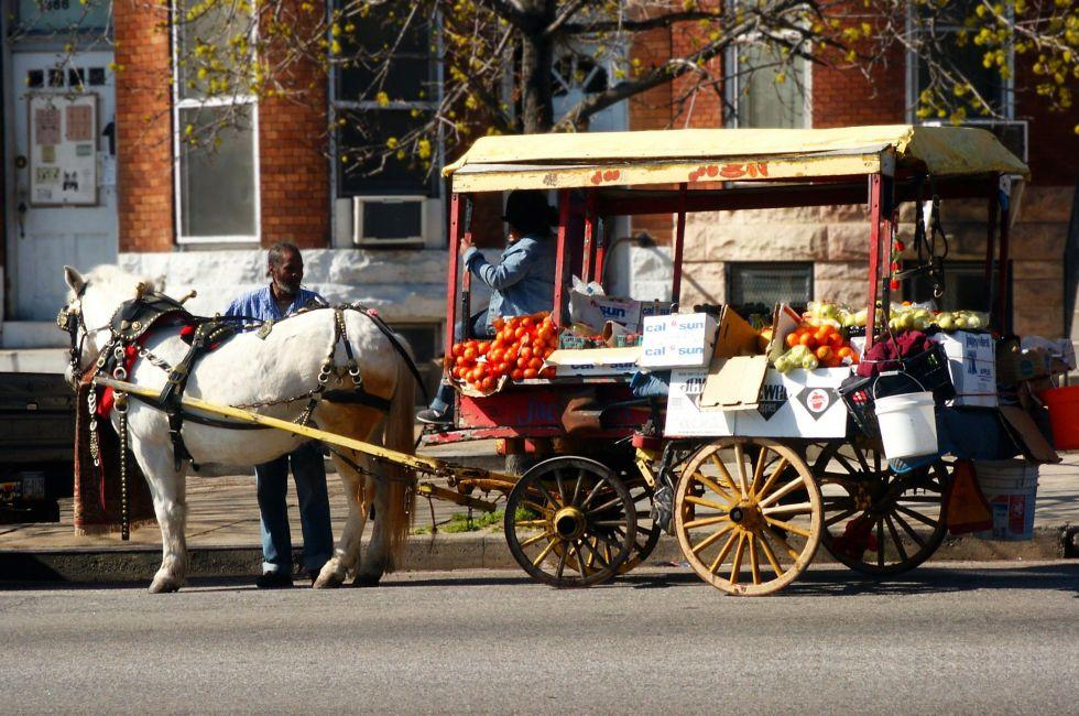 Produce Cart, West Baltimore, Baltimore, Maryland