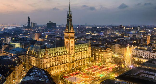 Rathaus, Altstadt, Hamburg, Germany, Europe.