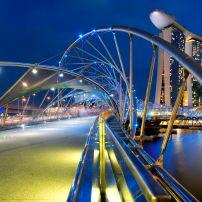 The Helix Bridge, Marina, Singapore Asia