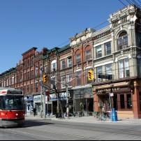 Tram, Queen Street, Chinatown Kensinigton Market, Queen West and The Beach, Tornoto, Canada