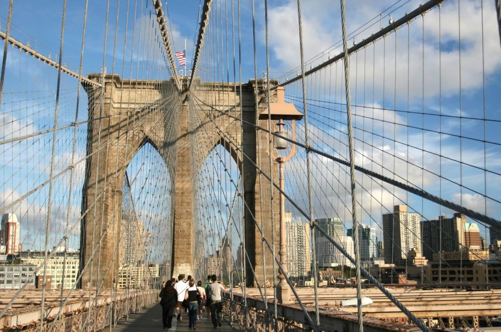 Brooklyn Bridge, Brooklyn, New York City, New York, USA