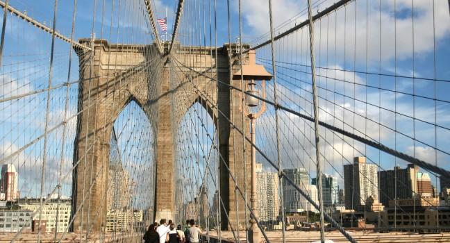 Brooklyn Bridge, Brooklyn, New York City, New York, USA