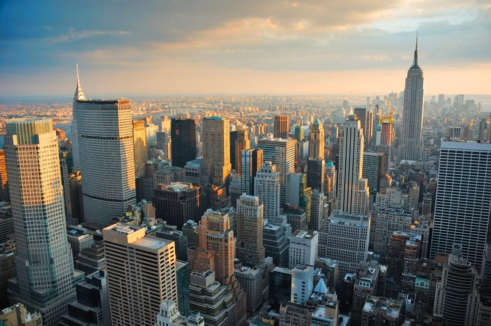 Skyline, Manhattan, New York City, New York, USA