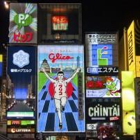 The Glico Man, Night, Osaka, The Kansai Region, Japan