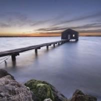 Boathouse, Dawn, Perth, Australia