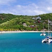 Boat, Catamaran, Caribbean Bay, Antigua, Caribbean