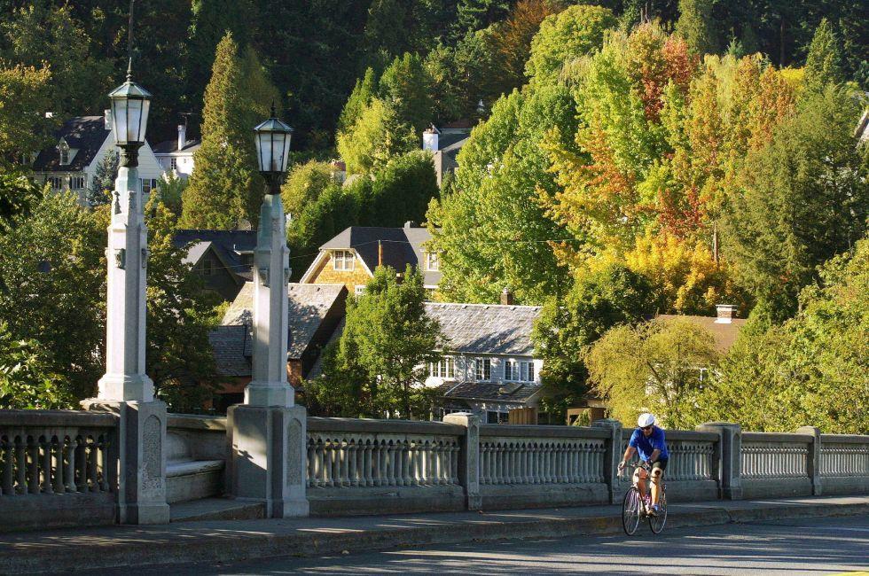 Bicycle, Bridge, Portland, Oregon