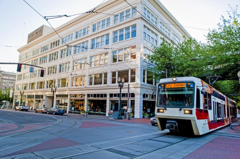 Streetcar, Transit, Downtown, Portland, Oregon