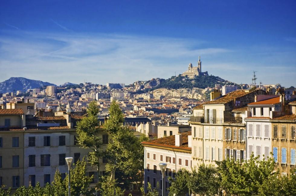 Cityscape, Notre Dame de la Garde, Marseille, Provence, France