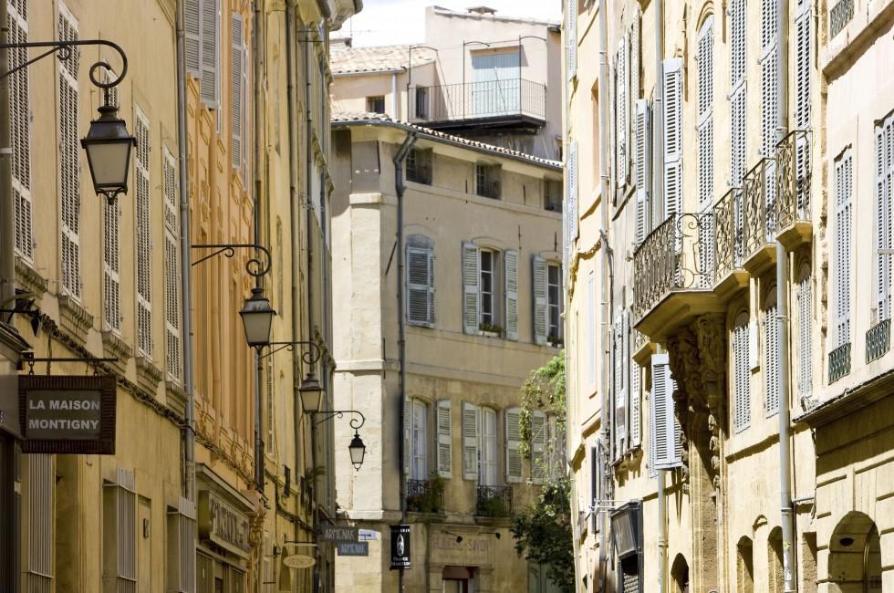 Street, Aix-en-Provence, Provence, France