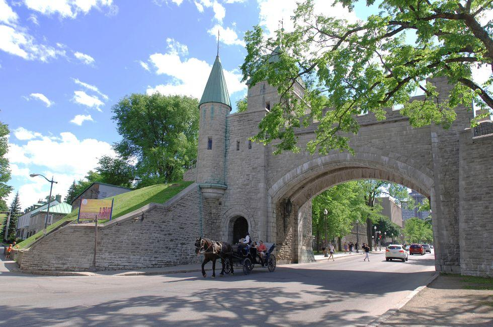 Gate, Porte Dauphine, The Fortifications, Quebec City, Canada
