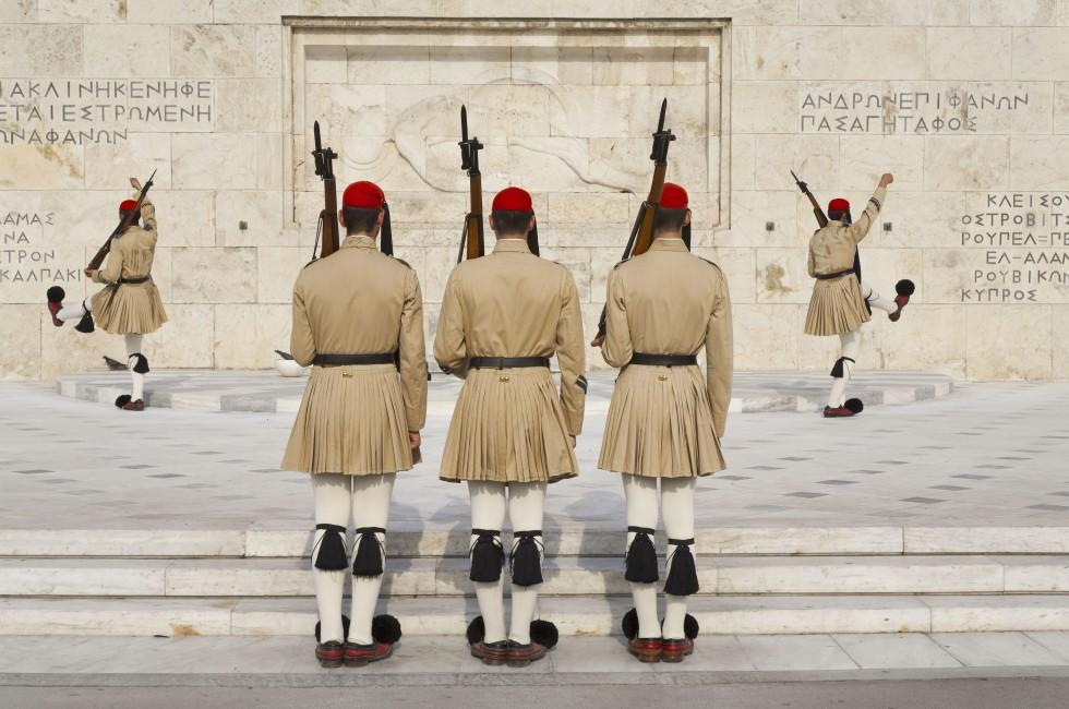 Soldiers, Tomb of the Unknown Soldier, Athens, Greece