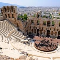 The Odeon of Herodes Atticus, Cityscape, Athens, Greece