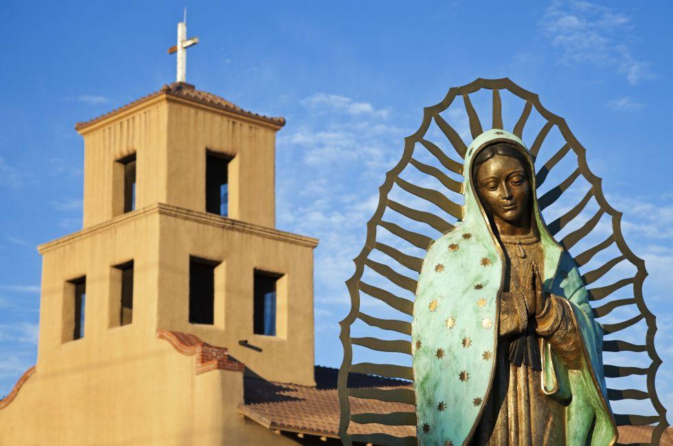 Mary Of Guadalupe, Sanctuary Of Guadalupe, Santa Fe, New Mexico, USA