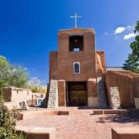 San Miguel Mission, Santa Fe, New Mexico, USA