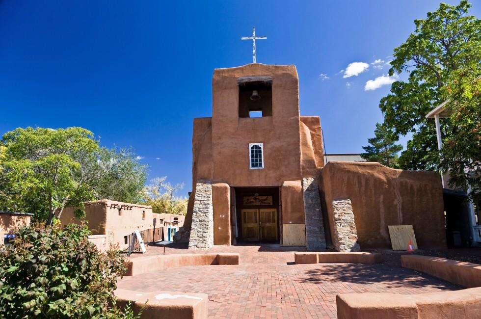 San Miguel Mission Santa Fe New Mexico Usa X on United States Of America Passport