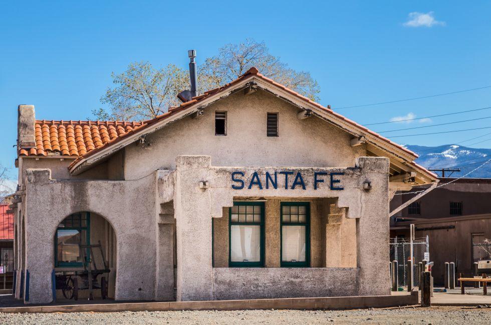 The Santa Fe Train Station, Visitor Center, Railway Yard, Santa Fe, New Mexico