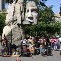 Mapuche Indians, Santiago, Chile