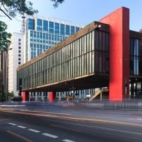Exterior, Sao Paulo Museum of Art, Paulista Avenue, Sao Paulo, Brazil