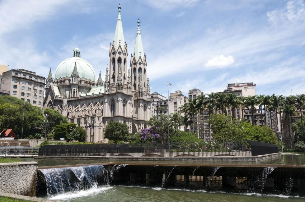 Se Cathedral, Waterfront, Sao Paulo, Brazil