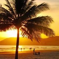 Sunset, Beach, Santos, Sao Paulo, Brazil