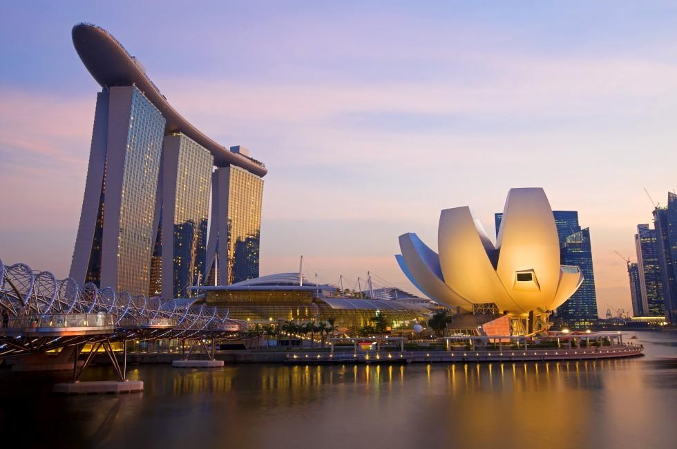 Sunset, Waterfront, Marina Bay Sands, Marina Bay, Singapore