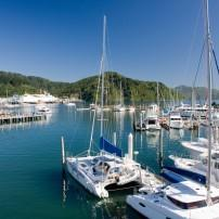 Boats, Marina, Picton, Upper South Island and the West Coast, New Zealand, Australia and the Pacific
