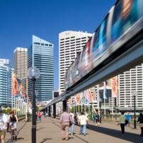 Cityscape, Monorail, Sydney, Australia